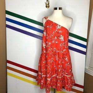 NEW Free People one shoulder floral dress